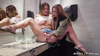 Evelin Stone is ready for her first sex with her lesbian friend