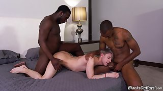 Black fetish in dirty gay threesome